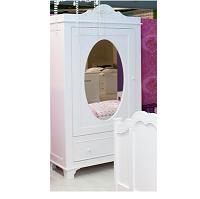 1-deurs Petra Romantic met spiegel Wit